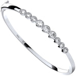 Silver Rubover Cubic Zirconia Ladies Bangle