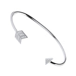 Silver Bow & Arrow Cubic Zirconia Bangle