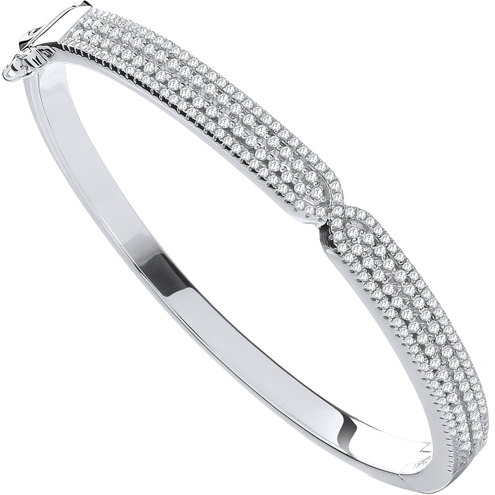 Silver Kiss Cubic Zirconia Ladies Bangle