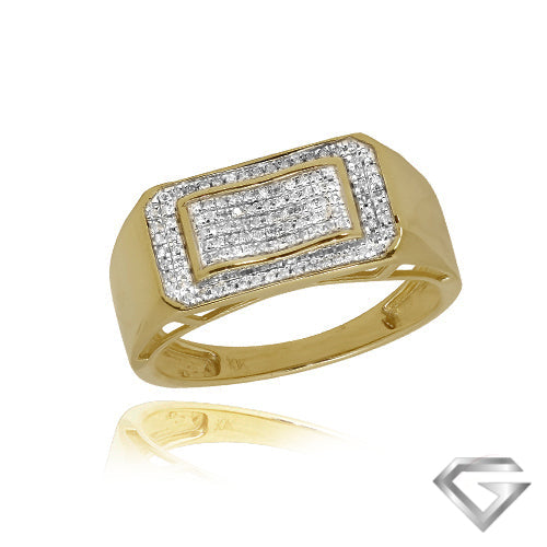 10KT Gents Diamond Ring 0.25ct