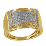 10KT Gents Micro Pave Diamond Ring 0.50ct
