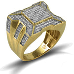 10KT Gents Diamond Ring 0.75ct