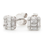 Round and Baguette Cut Studs 0.60ct