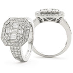 Fancy Cluster Engagement Ring 1.33ct