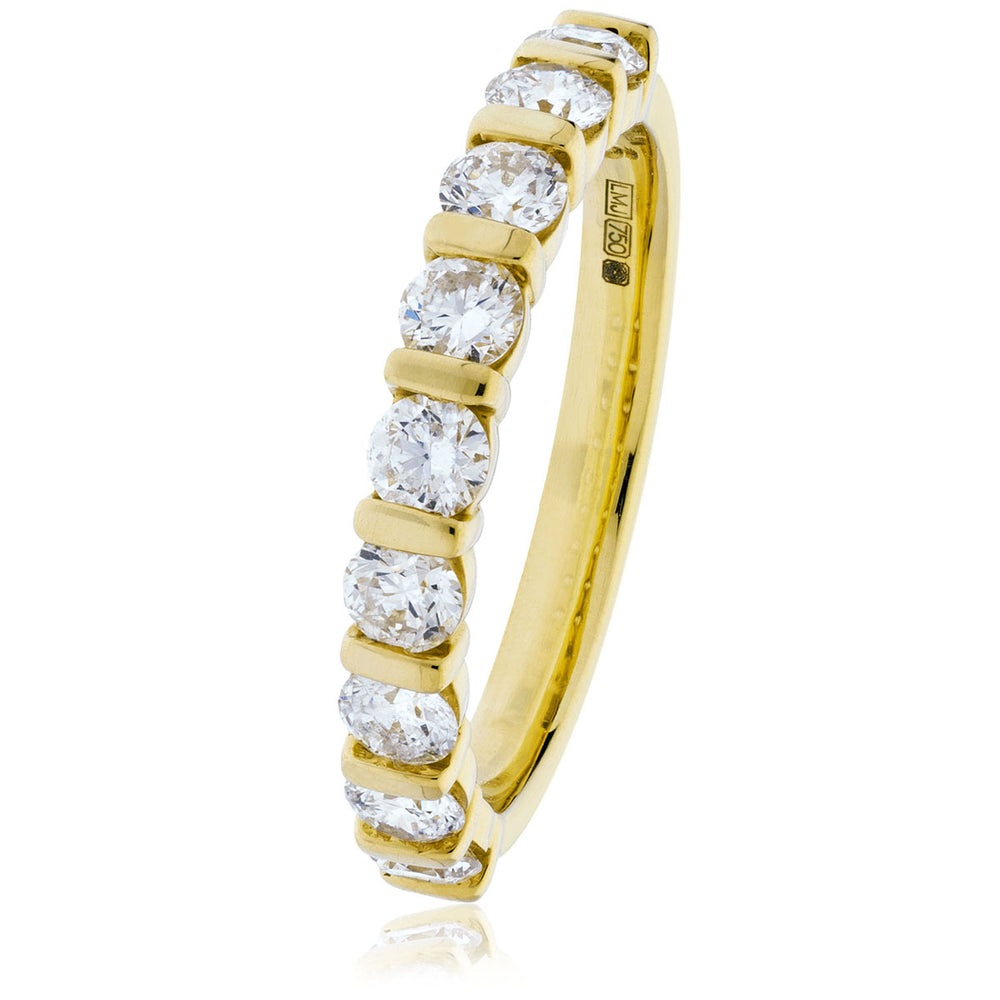 Bar Set Half Eternity Ring 0.50ct