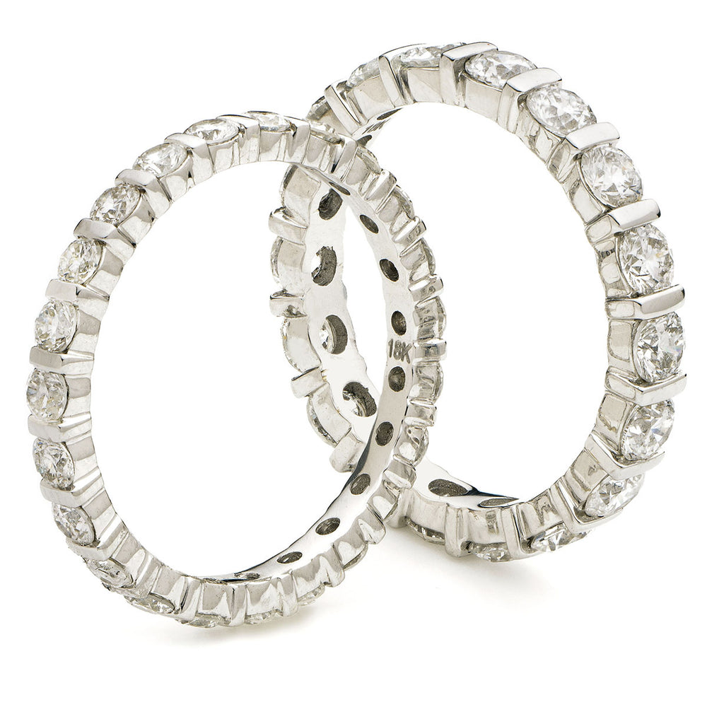 Bar Set Full Eternity Ring 1.00ct