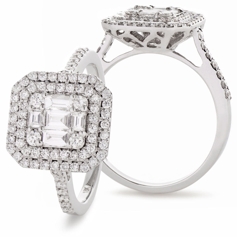 Fancy Cluster Ring 0.90ct