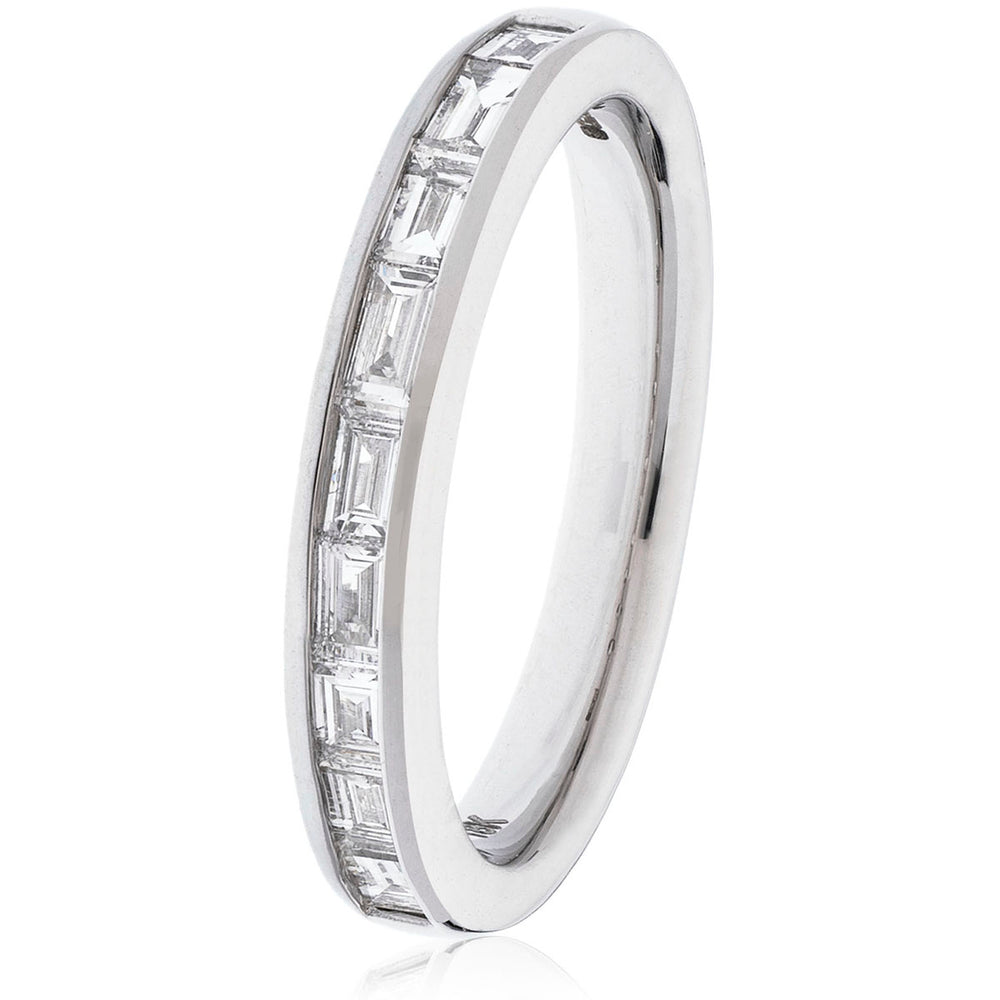 Baguette Cut Half Eternity RIng 0.40ct