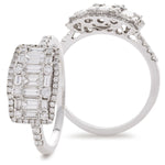 Cluster Dress Ring 0.65ct
