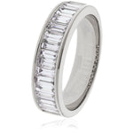 Baguette Set Half Eternity Ring 2.80ct