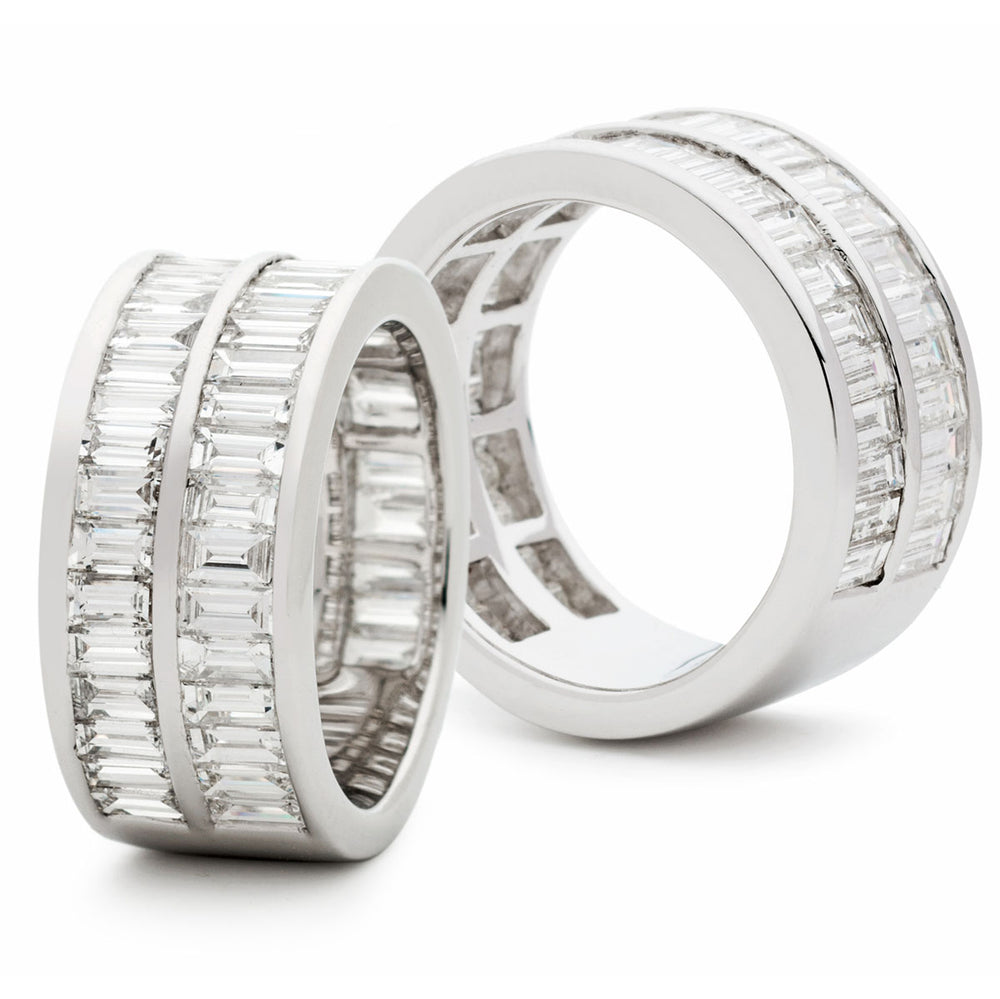 Double Row Channel Set Half Eternity Ring 3.13ct