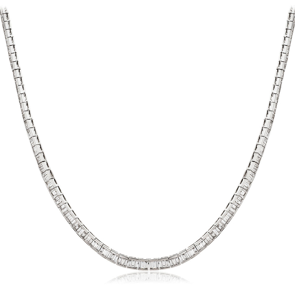 Channel Set Baguette Tennis Chain 8.60ct