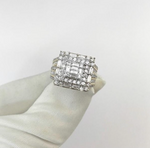 14ct Square Cluster Ring 2.02ct