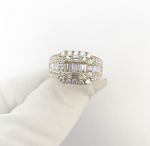 14ct Baguette/Round Set Ring 4.02ct