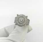 10kt Round Tier Cluster Ring 1.50ct