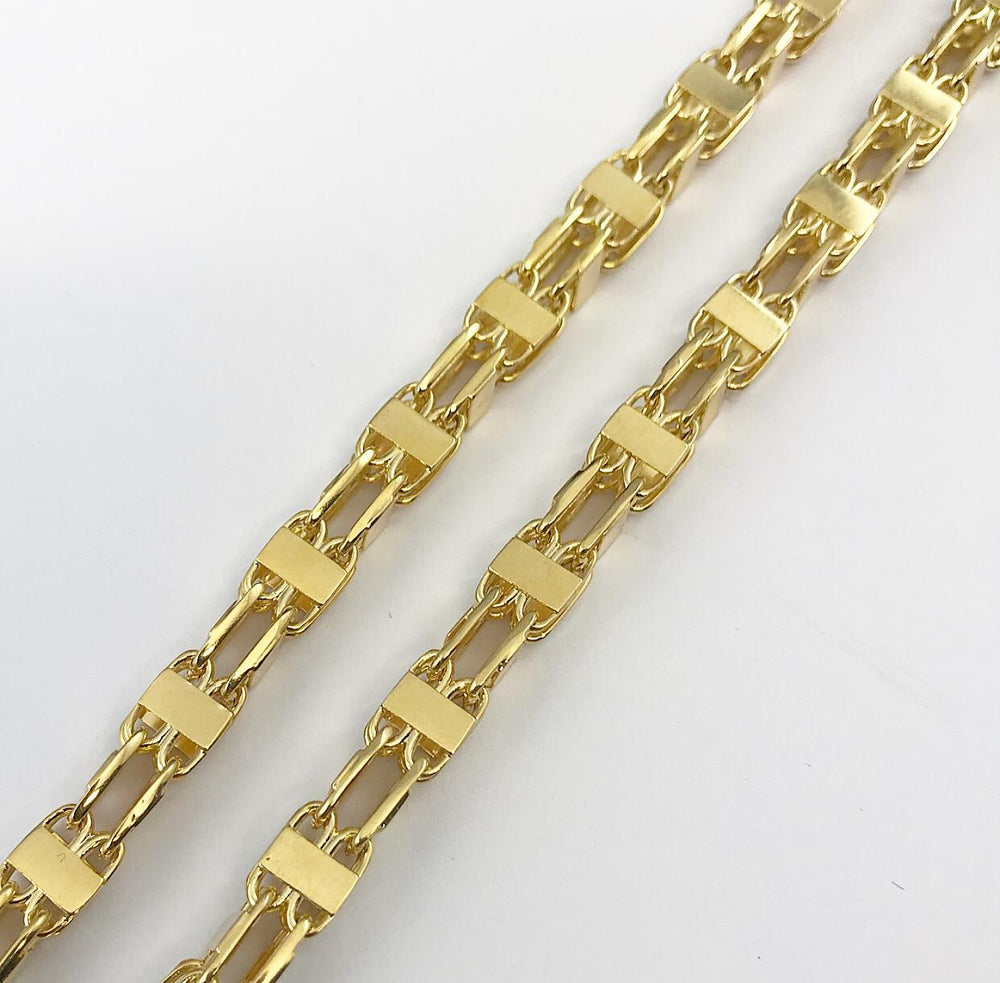 9ct 5.5mm Italian Cage Style Chain / Bracelet (Solid)
