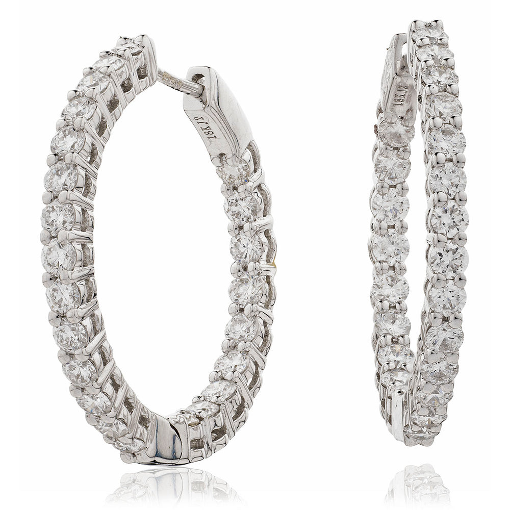 Claw Set Hoops 7.00ct