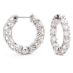 Crossover Claw Set Hoops 2.00ct