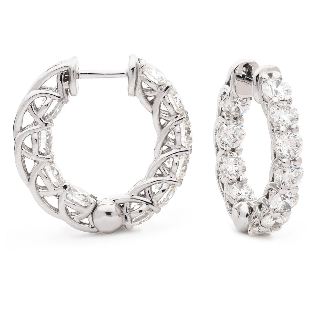 Crossover Claw Set Hoops 5.10ct