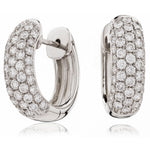 Five Row Pave Hoops 0.75ct