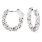 Crossover Claw Set Hoops 3.00ct