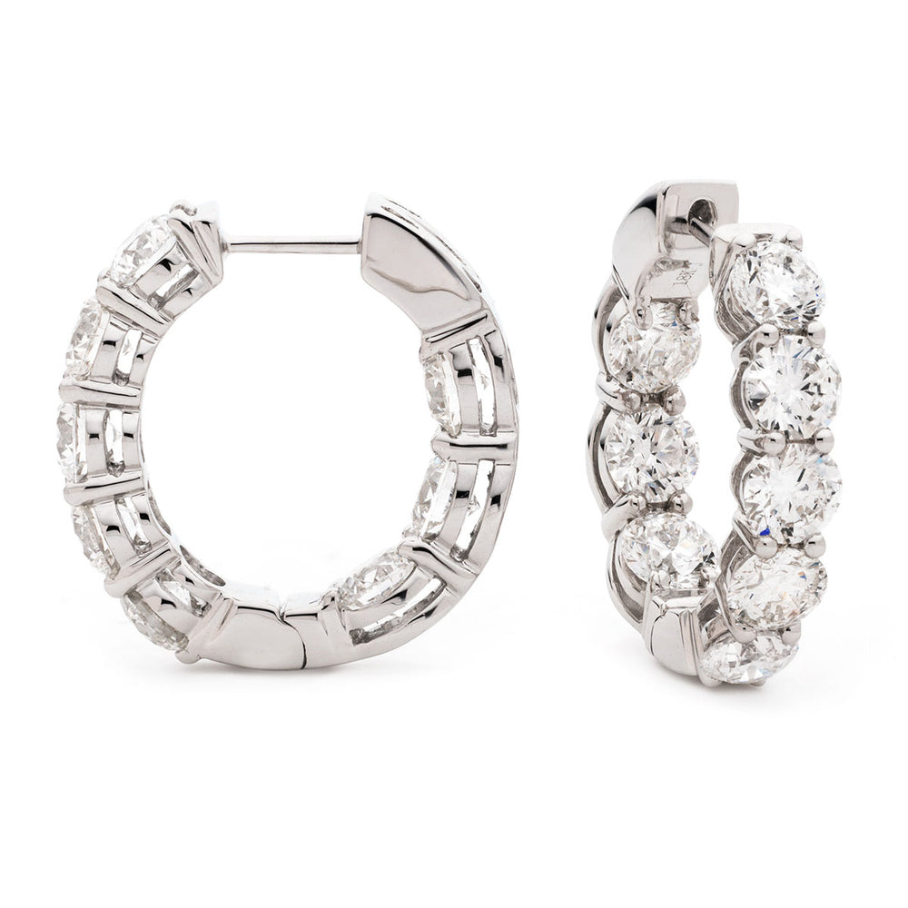 Claw Set Hoops 1.65ct
