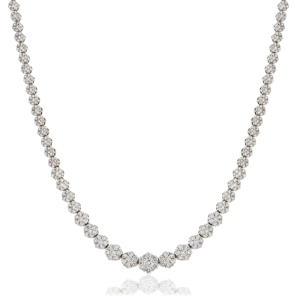 Graduating Cluster Tennis Chain 11.00ct