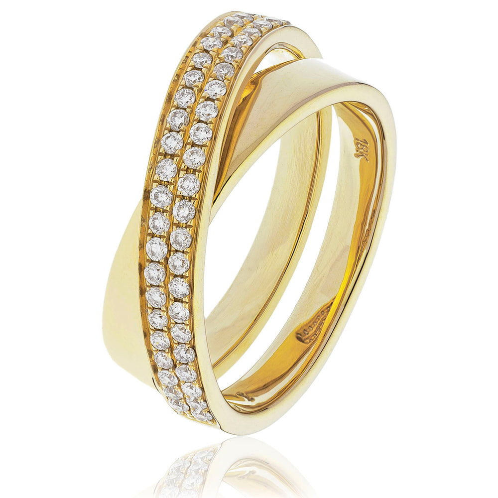 Crossover Wedding Band 0.30ct