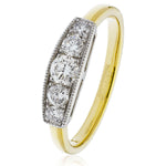 Five Stone Dress Ring 0.50ct