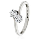 Two Stone Crossover Ring 0.60ct