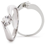 Tension Set Crossover RIng 0.50ct
