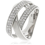 Three Band Crossover Ring 1.20ct