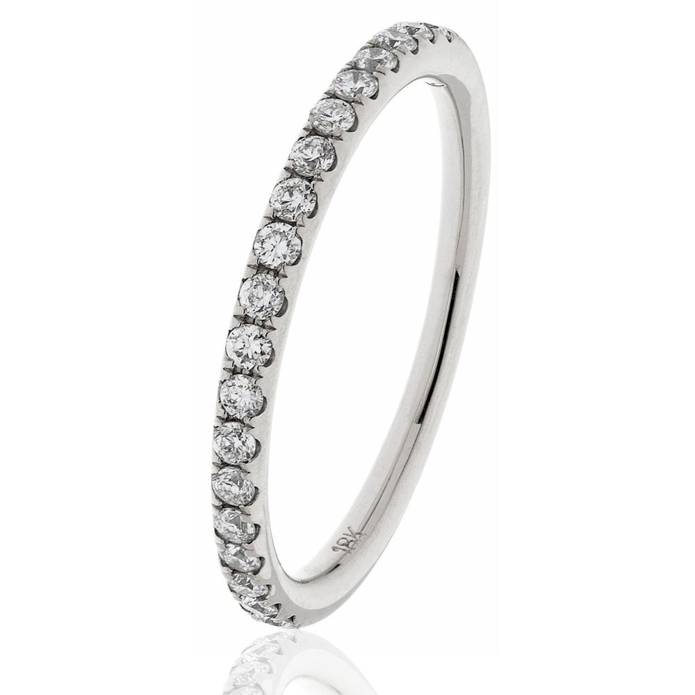 Shared Claw Half Eternity Ring 0.60ct