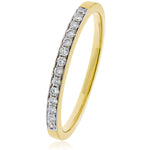 Pave Set Half Eternity Ring 0.20ct