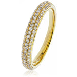 Three Row Pave Set Band 0.40ct