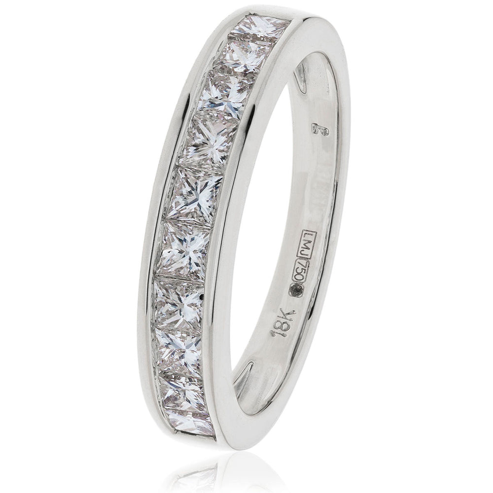 Princess Cut Half Eternity Ring 1.00ct