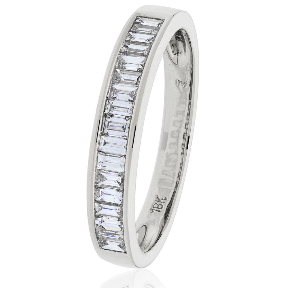 Princess Cut Half Eternity Ring 0.50ct