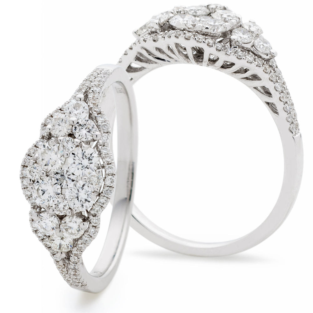 Round Cluster Dress Ring 0.70ct