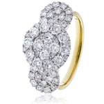 Triolgy Round Cluster Cocktail Ring 1.80ct