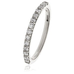 Prong Set Half Eternity Ring 0.55ct