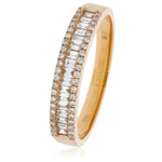 Three Row Parallel Dress Ring 1.50ct