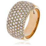 Seven Row Pave Set Dress Ring 1.65ct