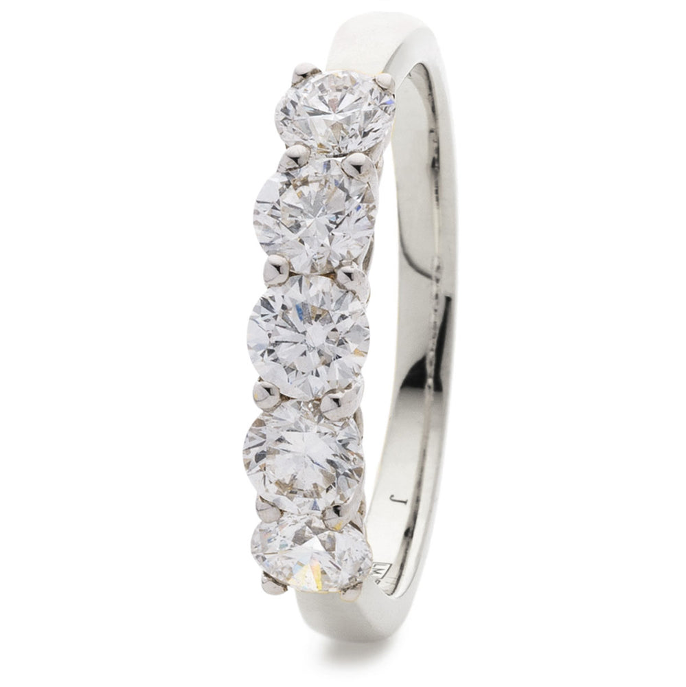 Five Stone Double Gallery Ring 2.00ct