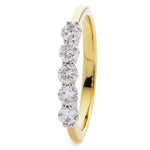 Five Stone Wedding Ring 0.75ct