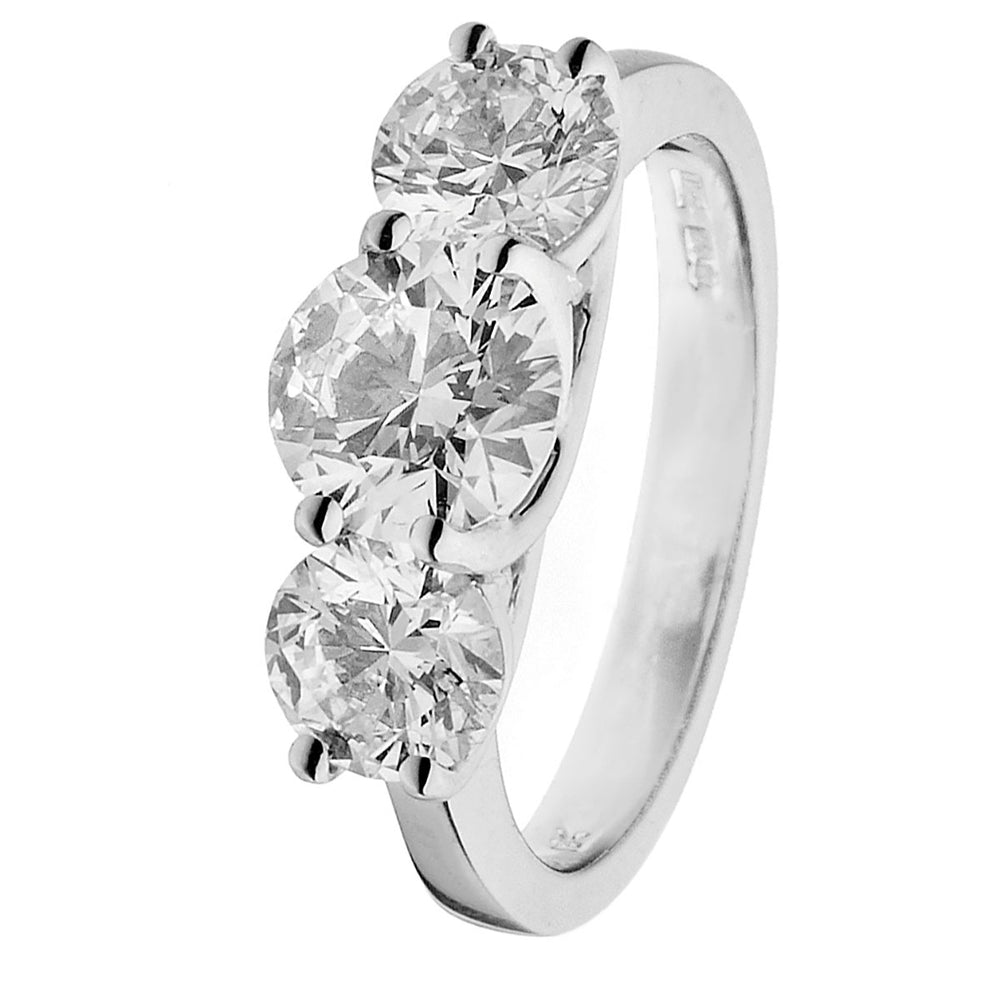 Three Stone Trilogy Ring 2.00Ct