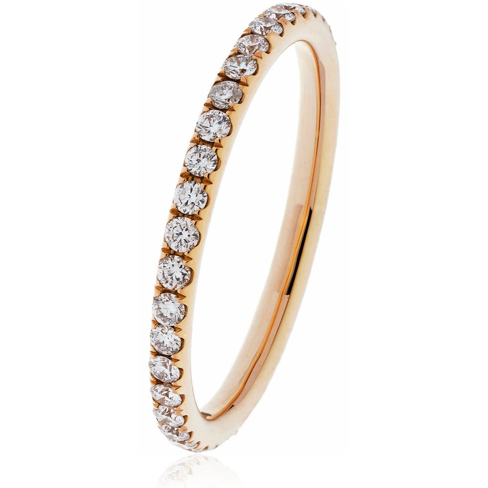 Micro Pave Set Wedding Band 0.50ct