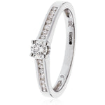 Engagement Ring with Channel Set Shoulders 0.45ct