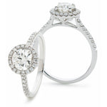 Round Halo Engagement Ring 1.25Ct