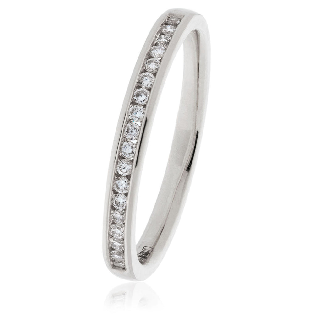 Channel Set Wedding Band 0.15Ct