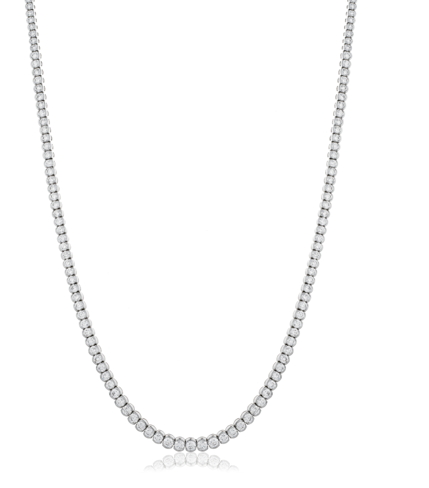 Semi Rubover Set Tennis Chain 9.75ct